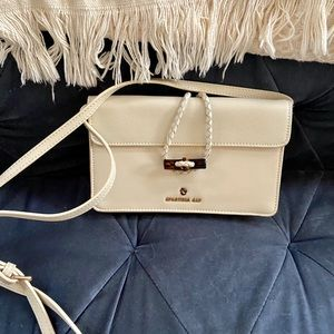 Spartina white crossbody purse